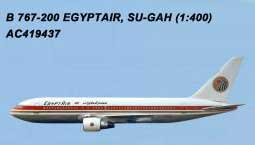 Egypt Air 767-200 SU-GAH(1:400) by AeroClassics Models Item Number AC419437
