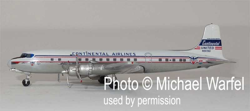 Continental DC-6 N90961 United Logo (1:400), AeroClassics Models, Item Number AC419475