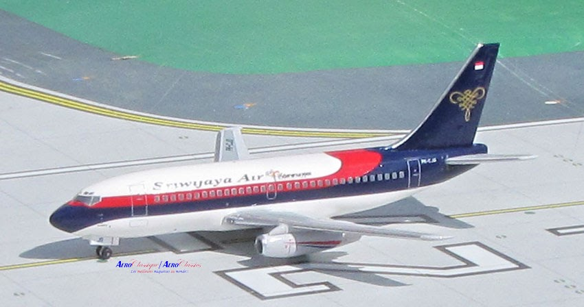Sriwijaya Air B737-200 PK-CJO (1:400), AeroClassics Models Item Number ACSJY0416