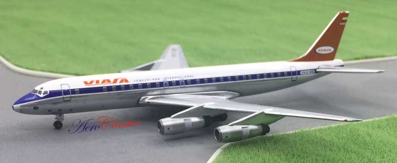 Viasa DC-8-50 YV-C-VID Delivery Colors (1:400), AeroClassics Models Item Number ACVIA0117