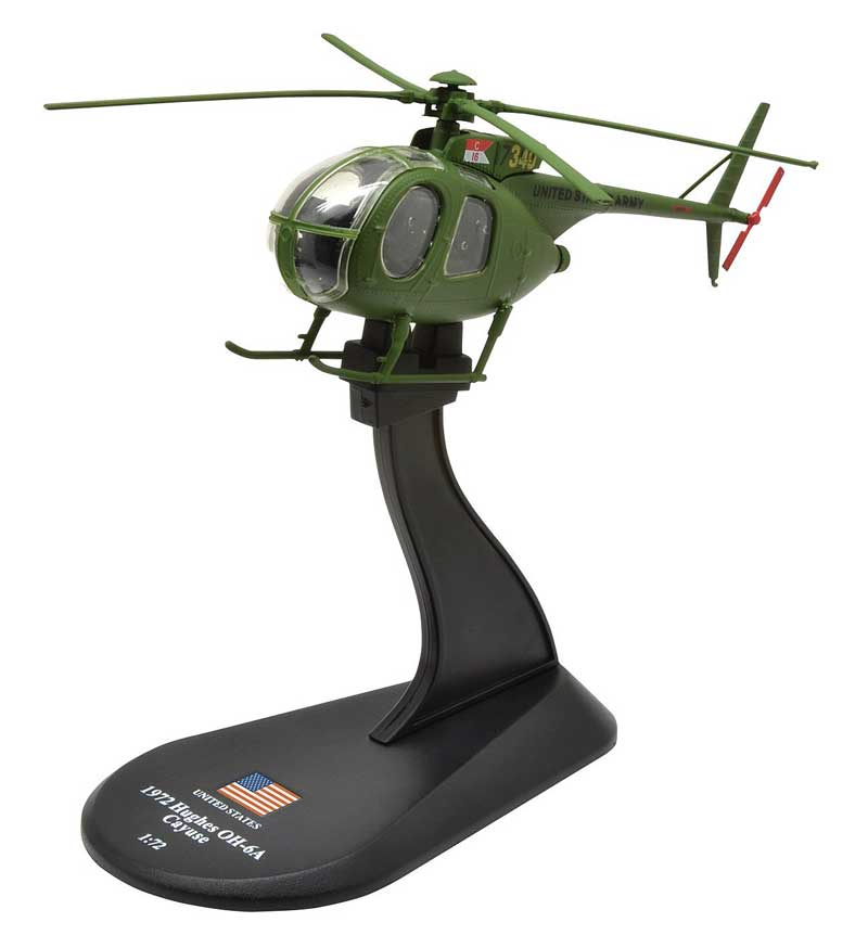 Hughes OH-6A Cayuse, C Troop, 16th Cavalry, U.S. Army, 1972 (1:72), Amercom Diecast Item Number ACHY47