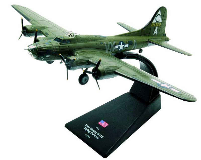 "B-17F Flying Fortress, ""Sky Wolf,"" 358th BS, 303rd BG ""Hells Angels,"" 8th AF, USAAF (1:144), Amercom Diecast Item Number ACLB02"