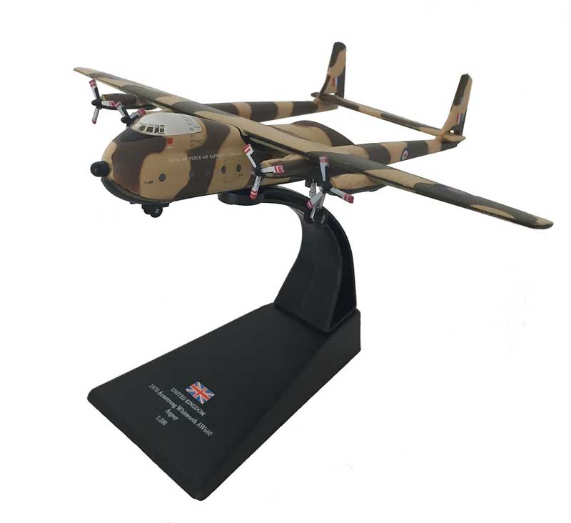 Armstrong Whitworth AW.660 Argosy, Royal Air Force Air Support Command, 1970 (1:144) - Preorder item, order now for future delivery, Amercom Diecast Item Number ACLB33