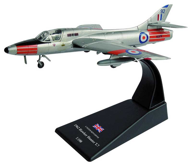 Hawker Hunter T.7, 229 OCU, No. 234 Squadron, RAF Chivenor, 1962 (1:100), Amercom Diecast Item Number ACSL41