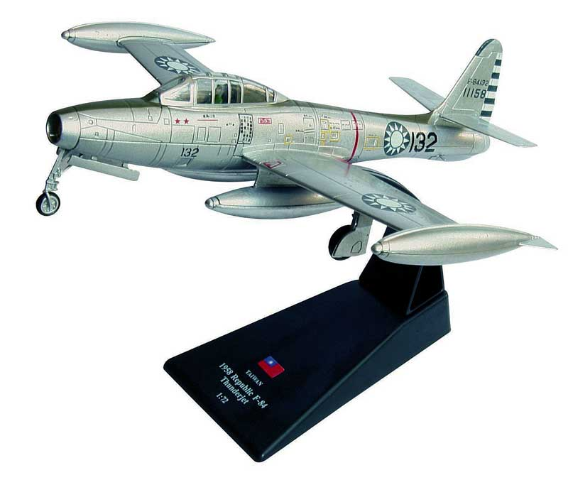 F-84 Thunderjet, of China (Taiwan) Air Force, 1958 (1:72), Amercom Diecast Item Number ACSL45