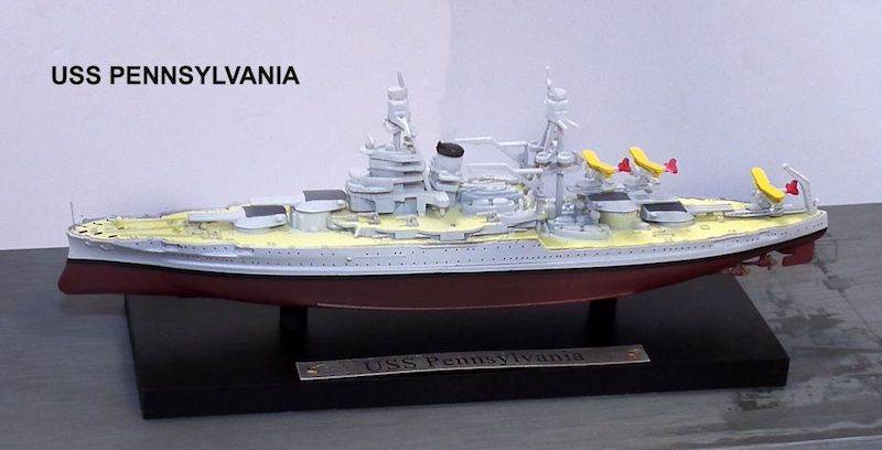 United States Navy battleship USS Pennsylvania (BB-38) (1:1250), Atlas Editions Item Number ATL-7134-132