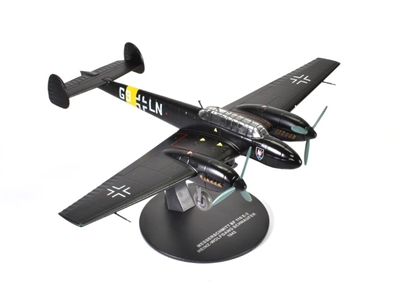 Messerschmitt Bf 110E-2, 121-victory ace Heinz-Wolfgang Schnaufer, 5./NJG 1, St. Trond, Belgium, 1942 (1:72) - Preorder item, order now for future delivery, Atlas Editions Item Number ATL-7896-010