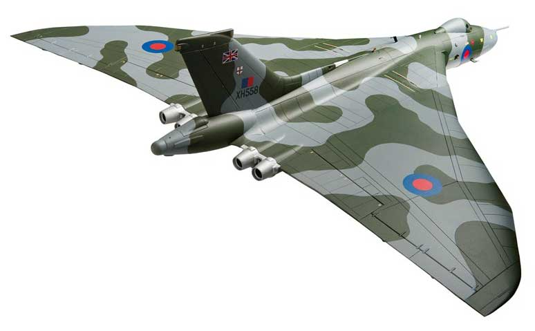Avro Vulcan B2, XH558 Vulcan to the Sky Return to Flight October 2007 (1:72), Corgi Diecast Aviation Item Number AA27201