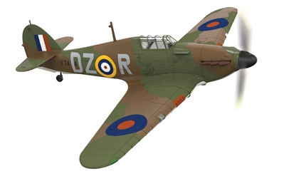 Hawker Hurricane Mk.I, 151st Sqn., V7434, Irving Smith, RAF Digby, England, 1940 (1:72) NEW TOOL!, Corgi Diecast Aviation Item Number AA27601