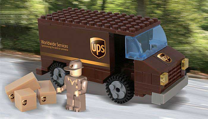 Ups 111 Piece Package Car Construction Toy, Best Lock, Item Number BL99977