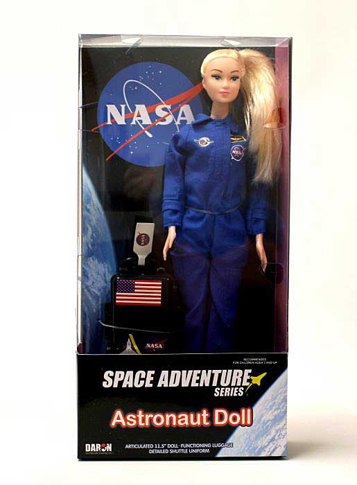 Astronaut Doll (Female) In Blue Suit In Box by Daron Toys Item Number DA500-1