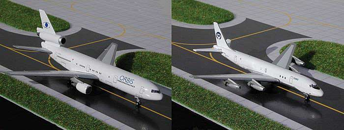 Orbis Flying Hospital DC-8/DC-10 2-Pack Set (1:400), GeminiJets 400 Diecast Airliners, Item Number GJORB238