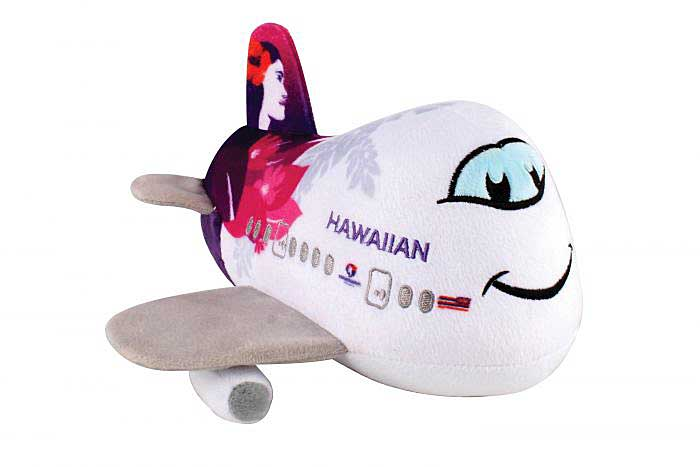 Hawaiian Airlines Plush Airplane With Sound New Livery  by Daron Toys Item Number MT026-1