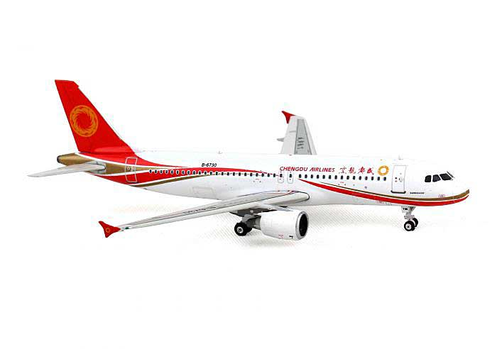 Chengdu Airlines A320 with Sharklets B-6730 ((1:400)), Phoenix (1:400) Scale Diecast Aircraft, Item Number PH4UEA1254