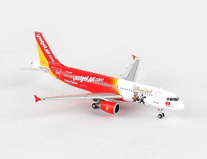 "Vietjet Air A320 ""Disneyland"" VN-A680 ((1:400)), Phoenix (1:400) Scale Diecast Aircraft, Item Number PH4VJC1308"