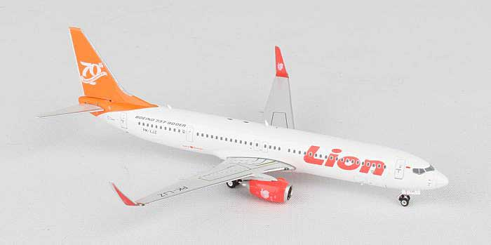 "Lion Airlines 737-900 Winglets ""70th Boeing Next Generation Jet"" PK-LIZ (1:400), Phoenix 1:400 Scale Diecast Aircraft, Item Number PH4LNI1528"