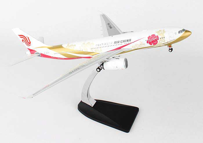 "Air China A330-200 ""Red Peony"" B-6075 (1:200), Phoenix 1:200 Scale Diecast Aircraft, Item Number PH2CCA218"