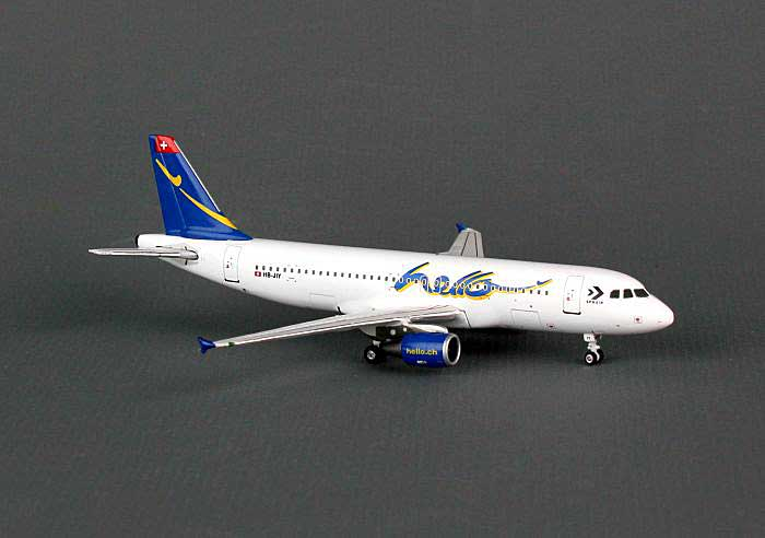 "Hello A320-200 ""Sphair"" HB-JIY (1:400), Phoenix 1:400 Scale Diecast Aircraft, Item Number PH4FHE815"