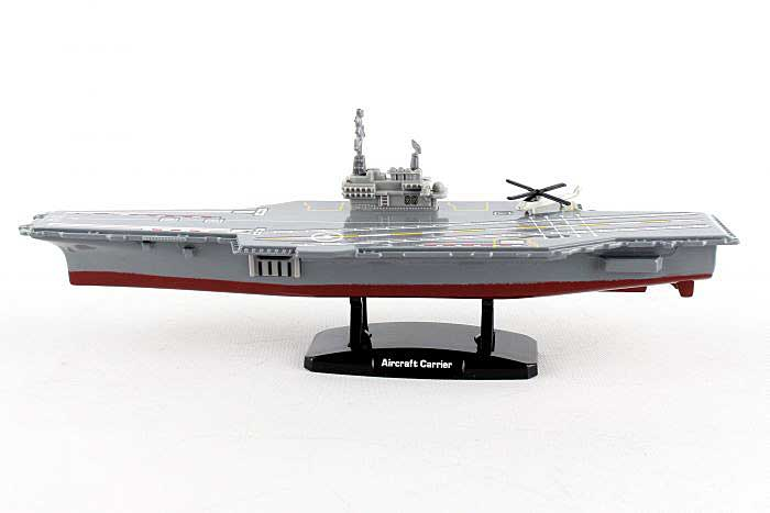 "Aircraft Carrier Playset. 9"" long Aircraft Carrier with helicopter, Motormax Diecast, Item Number RB76783"