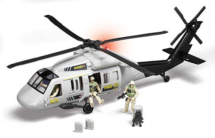 Blackhawk Helicopter W/3 Figures W/Lights & Sound, Red Box, Item Number RB78205