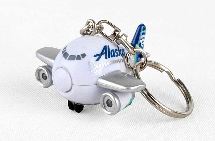 Alaska Airlines Keychain with Lights & Sound, Toytech, Item Number TT88445-1