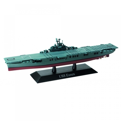 U.S. Navy aircraft carrier USS Essex (CV-9) 1942  (1:1250) by De Agostini Diecast Ships DAKS06