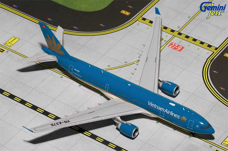 Vietnam Airlines A330-200 New Livery VN-A376 (1:400), GeminiJets 400 Diecast Airliners Item Number GJHVN1570