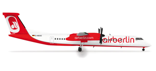 Air Berlin Q400 (1:500) REG#D-ABQG, Herpa 1:500 Scale Diecast Airliners Item Number HE515429-001
