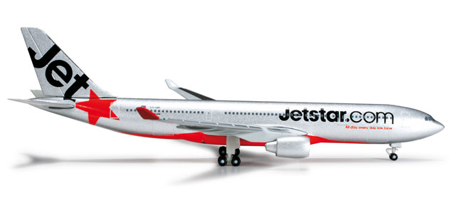 Jetstar A330-200 (1:500) VH-EBR, Herpa 1:500 Scale Diecast Airliners Item Number HE524278
