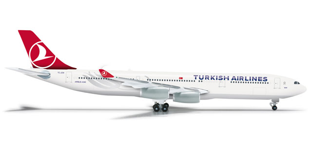 Turkish A340-300 (1:500) TC-JDM, Herpa 1:500 Scale Diecast Airliners Item Number HE524360