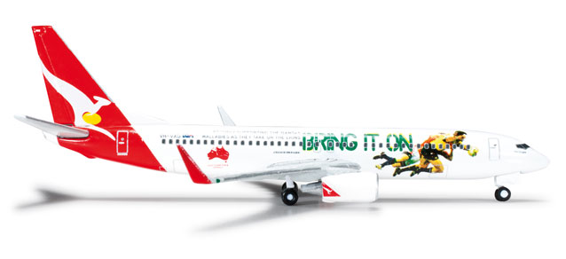 Qantas 737-800 (1:500) 2013 Lions Tour, Herpa 1:500 Scale Diecast Airliners Item Number HE526128