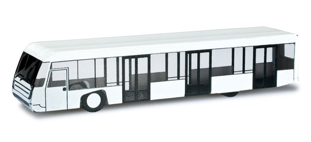 Airport Bus Set (2) (1:200), Herpa 1:200 Scale Diecast Airliners Item Number HE556071