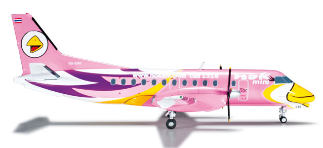 "Nok Air SF-340 ""Pink"" (1:200) REG# HS-GBD, Herpa 1:200 Scale Diecast Airliners Item Number HE556088"