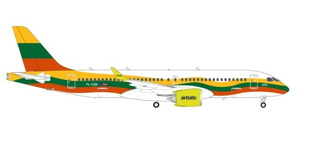 "Air Baltic A220-300 YL-CSK ""Lithuania Livery"" (1:200)"