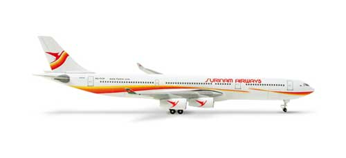 Surinam A340-300 (1:500), Herpa 1:500 Scale Diecast Airliners Item Number HE517645