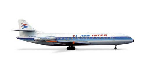 Air Inter Caravelle (1:500), Herpa 1:500 Scale Diecast Airliners Item Number HE520690