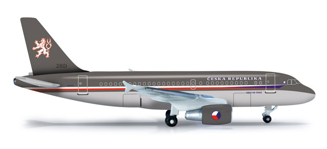 Czech Air Force A319CJ (1:500), Herpa 1:500 Scale Diecast Airliners Item Number HE523318
