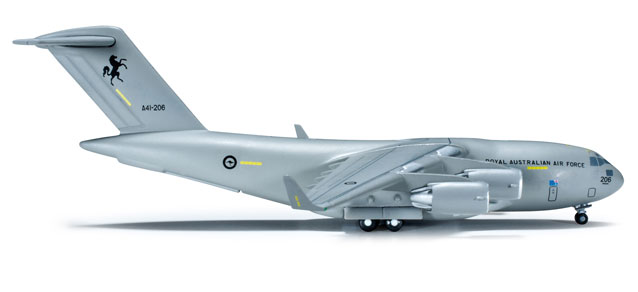 Royal Australian Air Force C-17A (1:500), Herpa 1:500 Scale Diecast Airliners Item Number HE523349