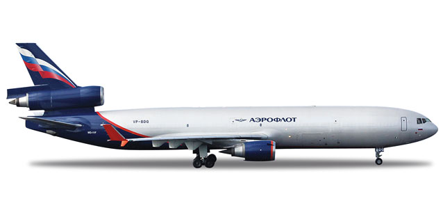 Aeroflot Cargo MD-11F (1:500), Herpa 1:500 Scale Diecast Airliners Item Number HE523653