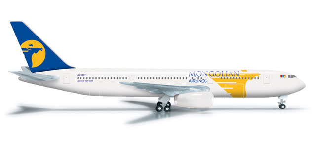 Miat Mongolian Airlines 767-300 (1:500) JU-1011, Herpa 1:500 Scale Diecast Airliners Item Number HE523905