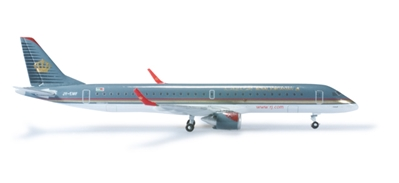Royal Jordanian ERJ195 (1:500), Herpa 1:500 Scale Diecast Airliners Item Number HE524940