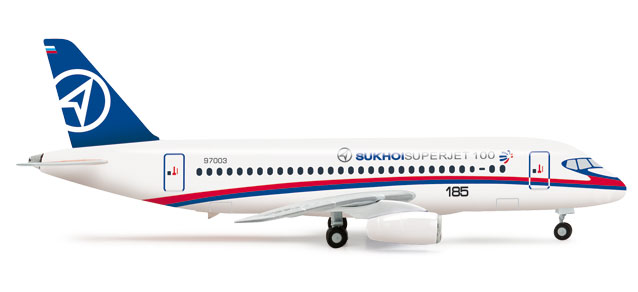 Sukoi Superjet (1:500) Prototype Livery, Herpa 1:500 Scale Diecast Airliners Item Number HE526425