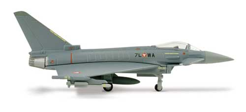 Austrian Air Force Eurofighter Typhoon (1:200), Herpa 1:200 Scale Diecast Airliners Item Number HE553094