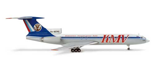 Kmv Tu-154m (1:200), Herpa 1:200 Scale Diecast Airliners Item Number HE553285