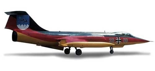 "Luftwaffe F-104F ""Jabog 34 50 Years"" (1:200), Herpa 1:200 Scale Diecast Airliners Item Number HE553872"