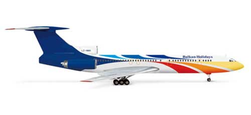 Balkan Holidays TU154M (1:200), Herpa 1:200 Scale Diecast Airliners Item Number HE554046