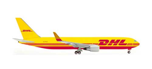 DHL 767-300 (1:200), Herpa 1:200 Scale Diecast Airliners Item Number HE554091