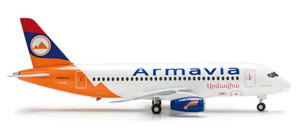 Armavia SSJ100 Sukhoi Super Jet (1:200), Herpa 1:200 Scale Diecast Airliners Item Number HE554596