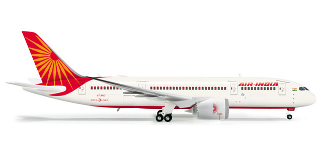 Air India 787-8 (1:200), Herpa 1:200 Scale Diecast Airliners Item Number HE555388