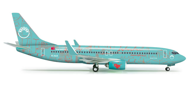 "Sun Express 737-800 (1:200) ""Impression Of Istanbul"", Herpa 1:200 Scale Diecast Airliners Item Number HE555531"